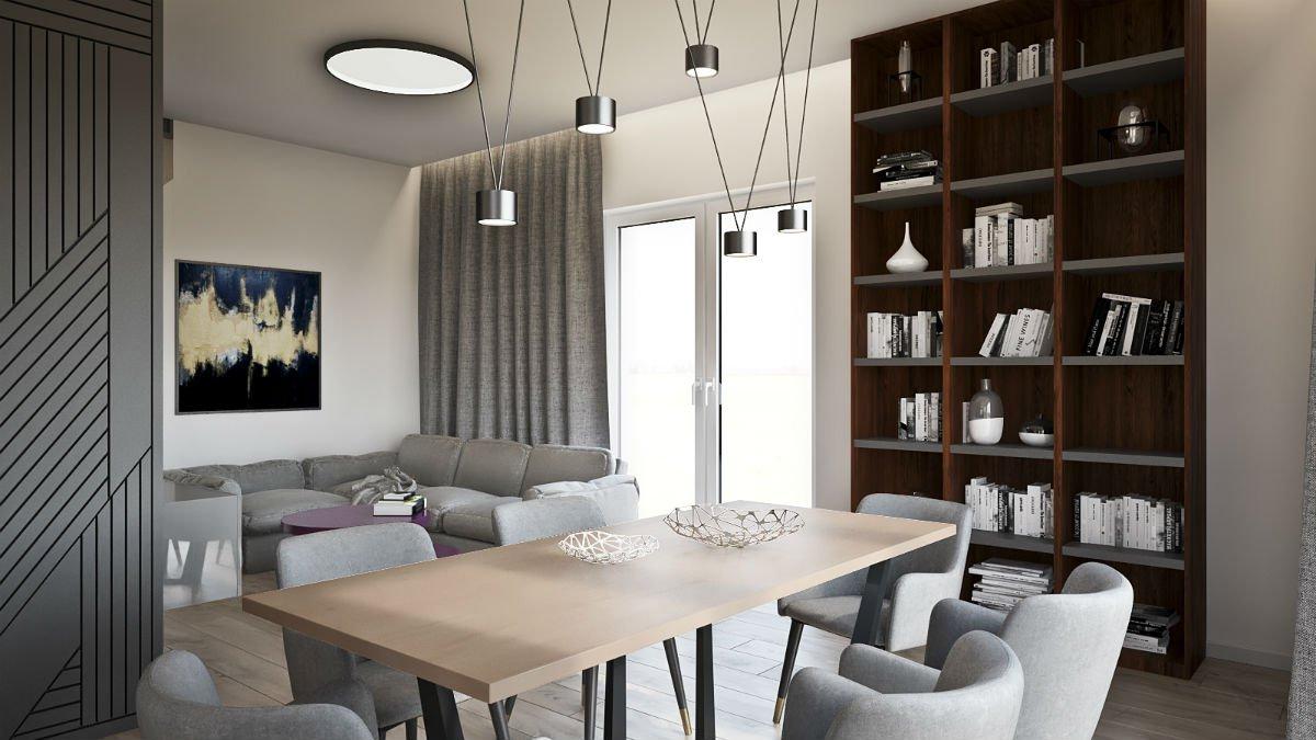 nowoczesny dom salon