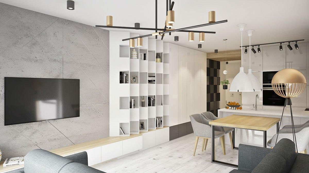 mieszkanie w centrum Warszawy salon