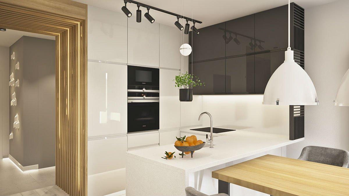 mieszkanie w centrum Warszawy kuchnia