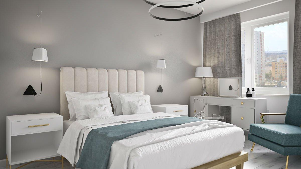 mieszkanie w centrum Warszawy sypialnia