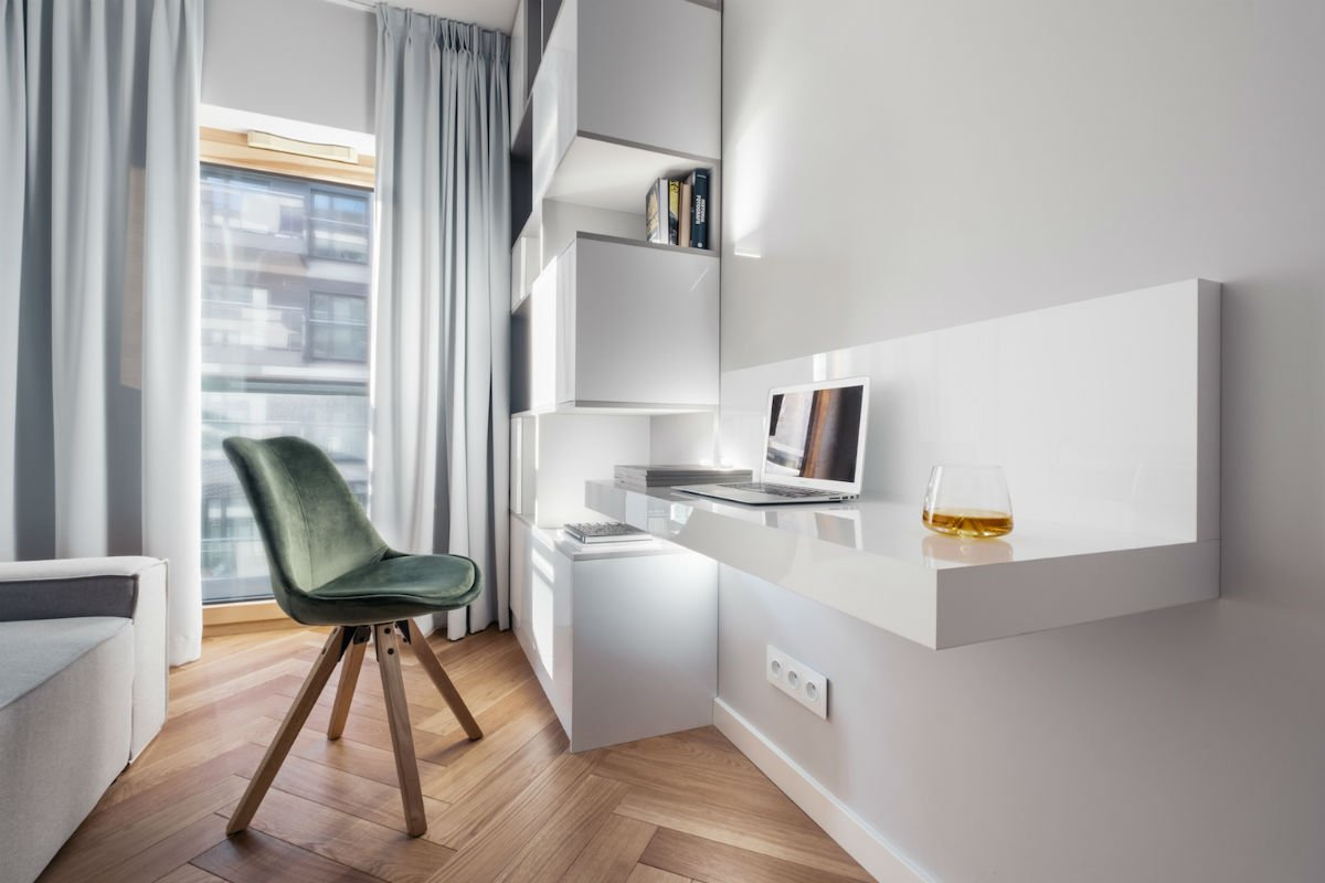 nowoczesny apartament mennica biurko