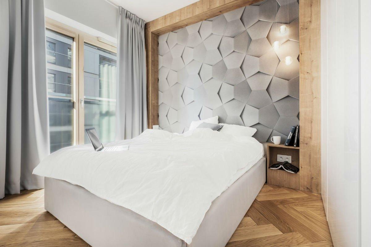 nowoczesny apartament mennica sypialnia