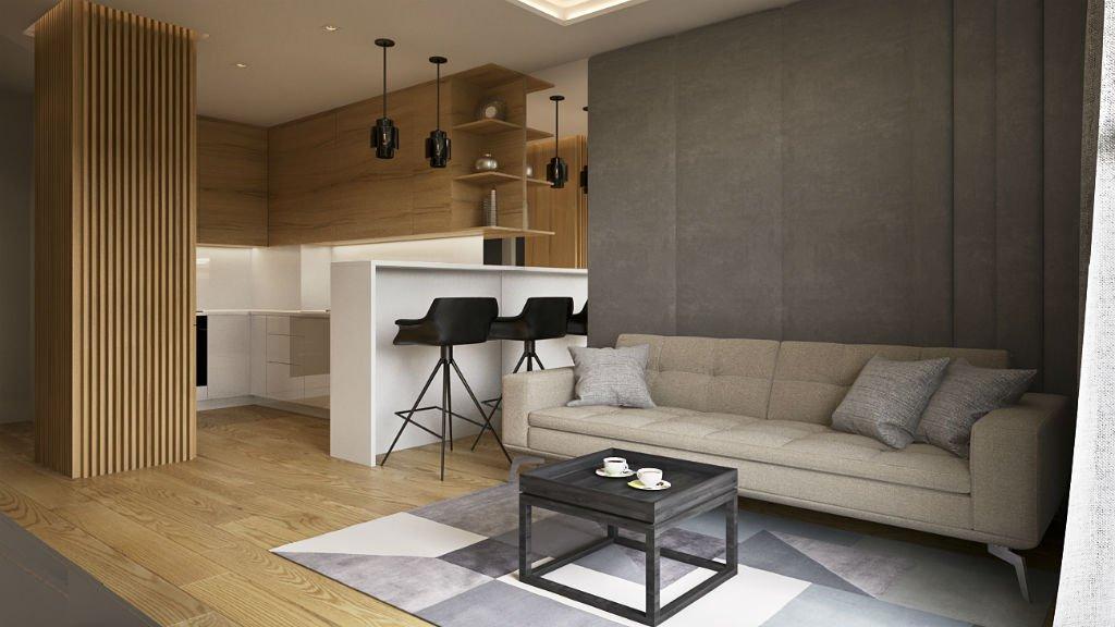 apartament w centrum warszawy salon