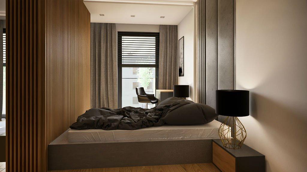 apartament w centrum warszawy sypialnia