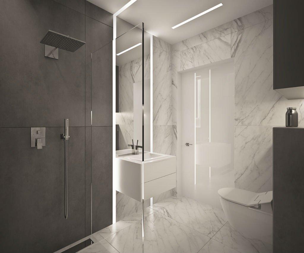 apartament w centrum warszawy łazienka
