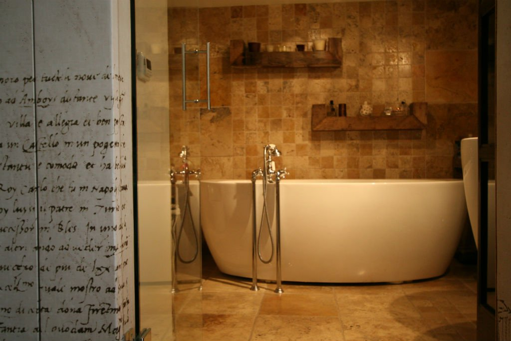 studio w stylu vintage łazienka