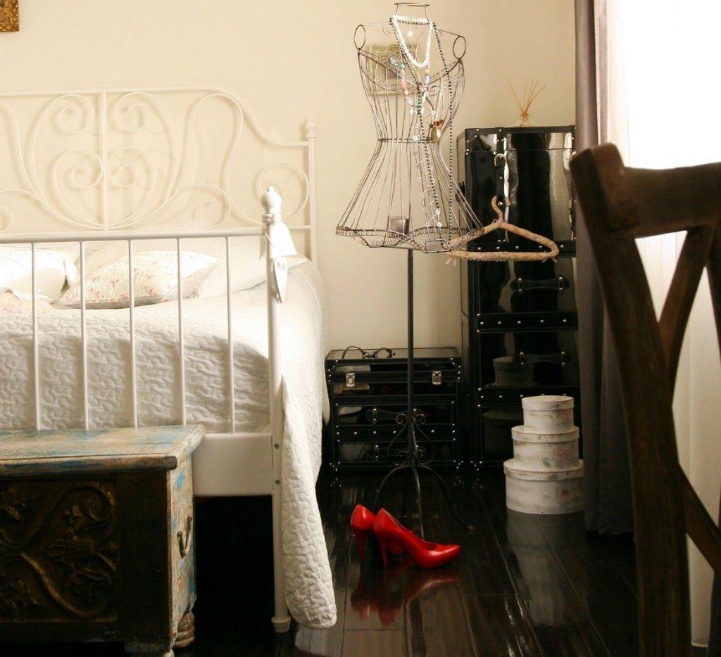 studio w stylu vintage sypialnia
