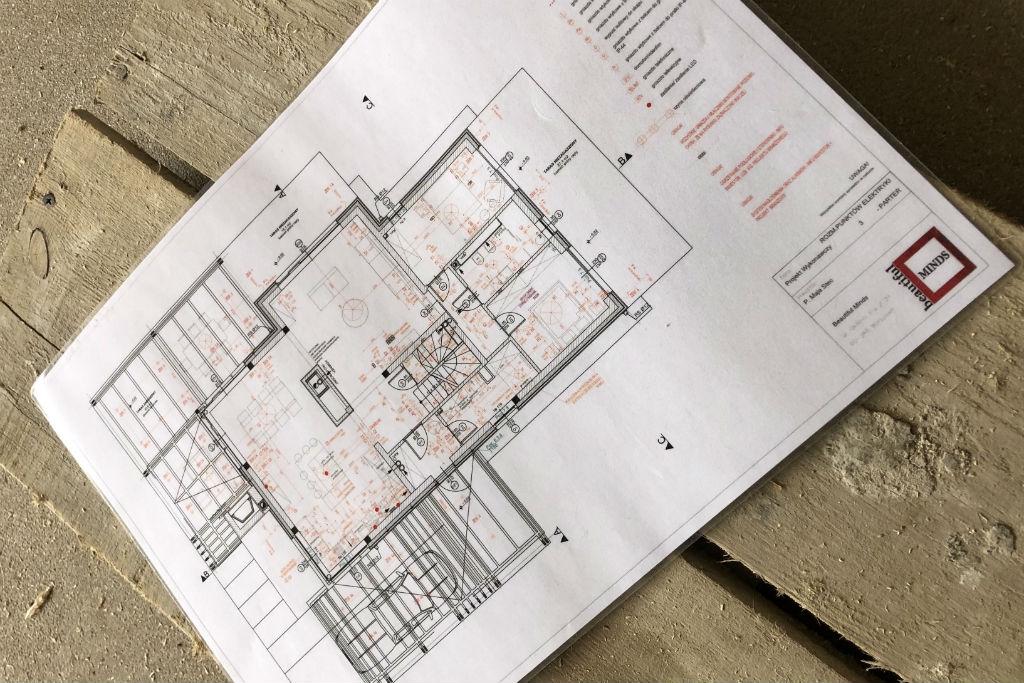 projekt techniczny 1 część podczas projektowania wnętrz