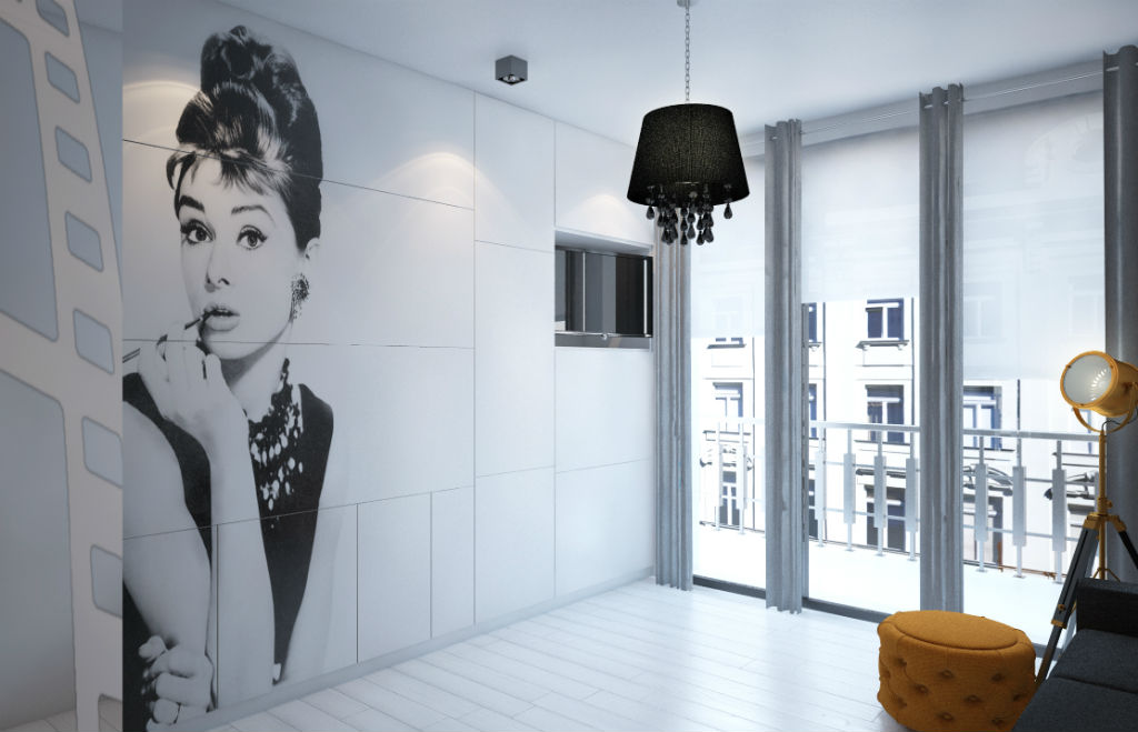aparthotel w filmowym stylu - projekt wnętrza
