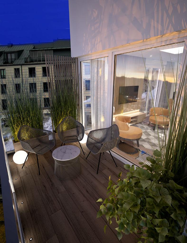 Elegancki apartament z elementami złota taras