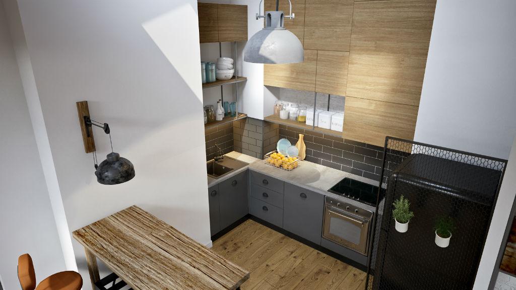 Miejski loft kuchnia