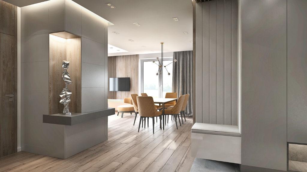 Elegancki apartament z elementami złota - jadalnia