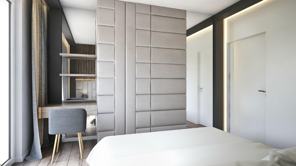 Elegancki apartament z elementami złota - projekt