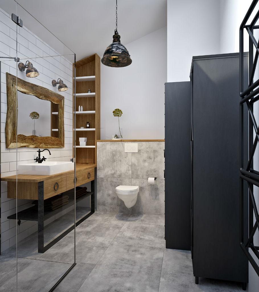 Miejski loft łazienka