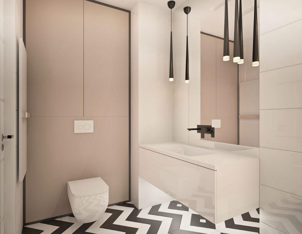 Elegancki apartament z elementami złota łazienka